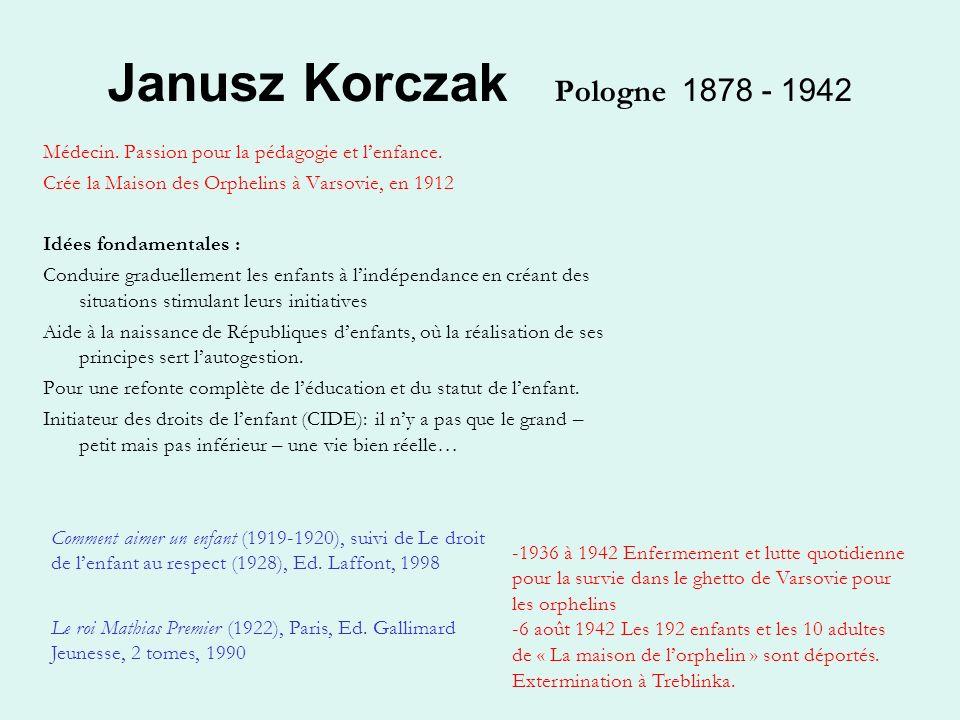 Janusz Korezak ou l'appropriation de la pédagogie des pauvres